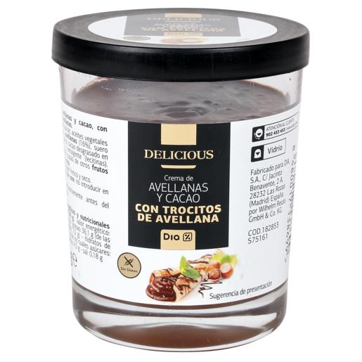 DIA DELICIOUS crema de cacao con trocitos vaso 200 gr