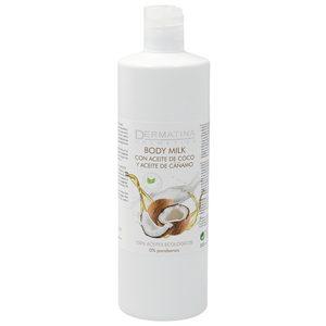DERMATINA body milk con aceite de coco y aceite de cáñamo bote 500 ml