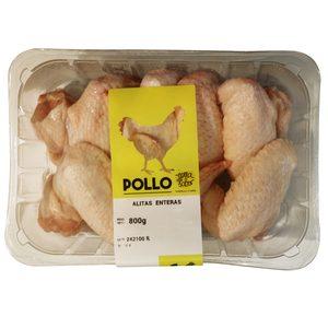 Alas de pollo enteras bandeja 800 gr