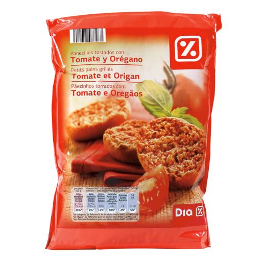 DIA panecillos tostados con tomate y orégano paquete 160 gr