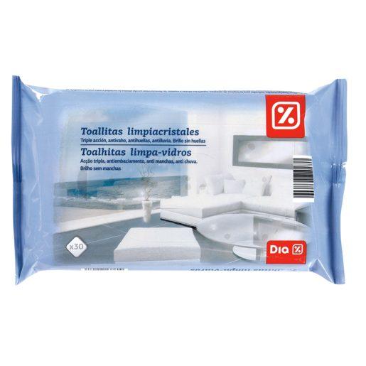 DIA toallitas limpiacristales triple acción envase 30 uds