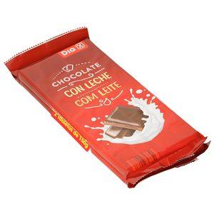 DIA chocolate con leche tableta 2 x 150 gr