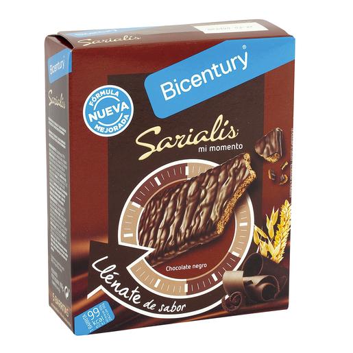 BICENTURY Sarialis barritas de cereales y chocolate negro caja 5 uds
