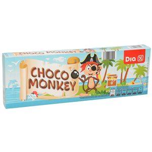 DIA bizcocho relleno de chocolate choco monkey paquete 150 gr