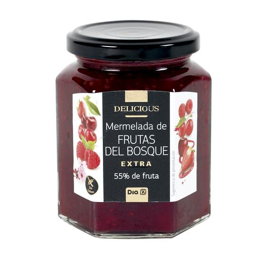 DIA DELICIOUS mermelada extra de frutas del bosque frasco 320 gr
