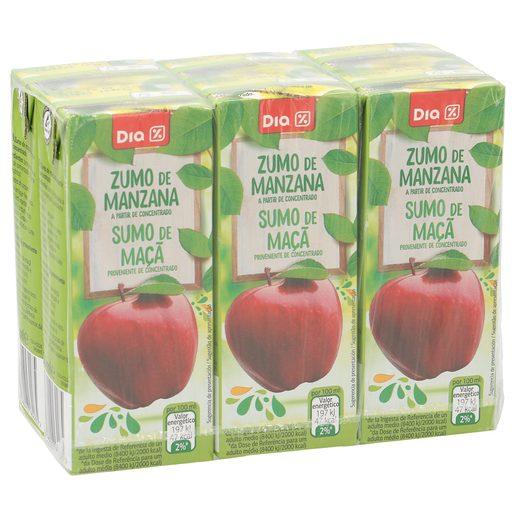 DIA zumo de manzana pack 6 unidades 200 ml