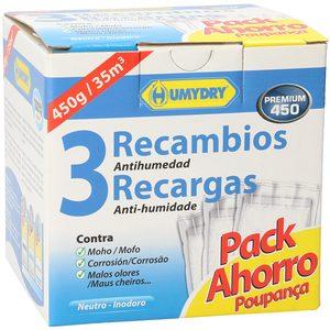 HUMYDRY Premium 450 ambientador anti humedad recambio 3 uds