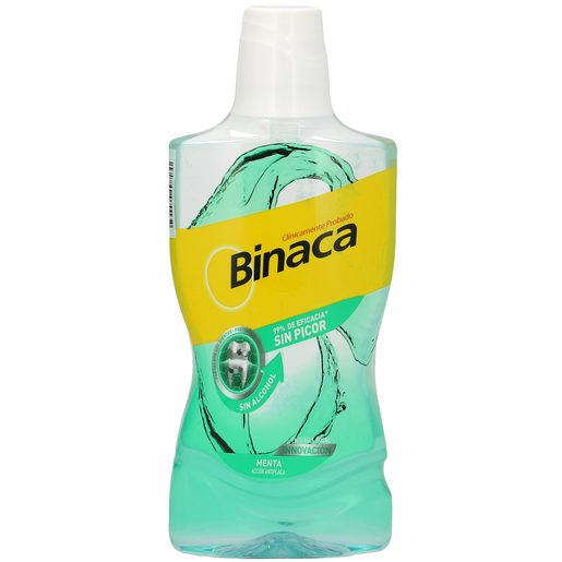 BINACA enjuague bucal menta sin alcohol bote 500ml