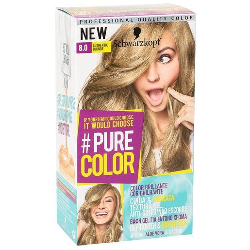 PURE COLOR tinte Authentic Blonde Nº 8.0 caja 1 ud