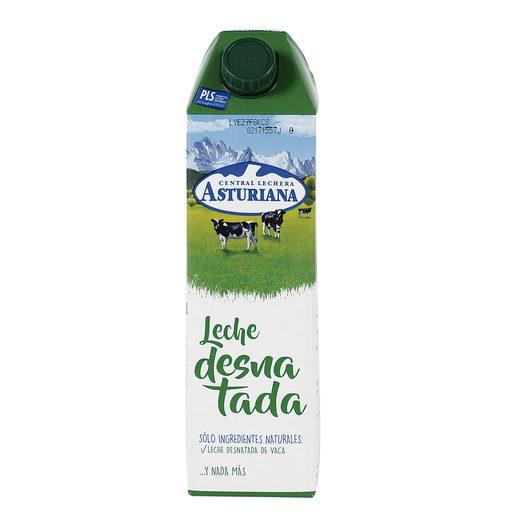 ASTURIANA leche desnatada envase 1 lt