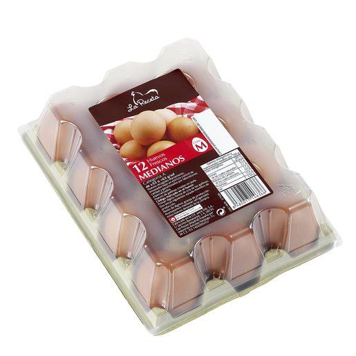 LA RECETA huevos frescos categoria A clase M estuche 12 uds