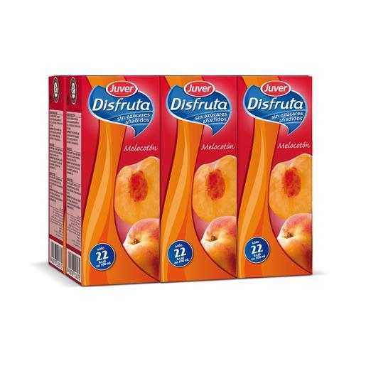 DISFRUTA néctar melocotón sin azúcares añadidos pack 6 unidades 200 ml