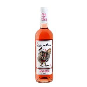 PINTA EN COPAS vino rosado bobal botella 75 cl