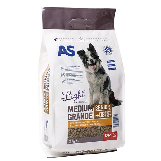 AS alimento para perros senior bolsa 3 kg