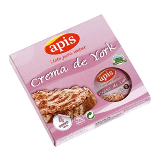 APIS crema de jamón york pack 4 x 25 gr
