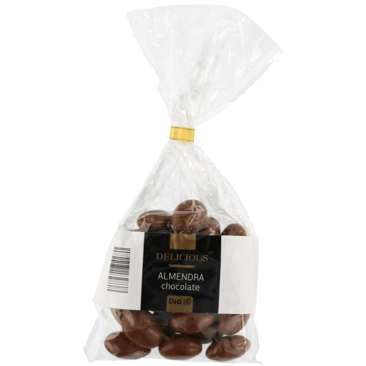 DIA DELICIOUS almendras recubiertas de chocolate con leche bolsa 120 gr