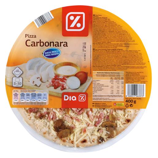DIA pizza carbonara envase 400 gr