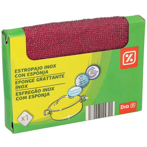 DIA estropajo inox con esponja paquete 1 ud