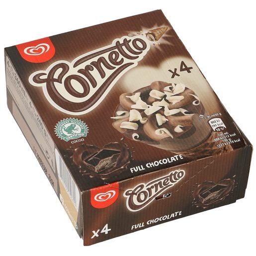 FRIGO helado cornetto chocolatissimo 4 uds caja 240 gr
