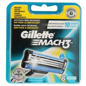 GILLETTE Mach3 maquinilla de afeitar recambio blíster 8 uds