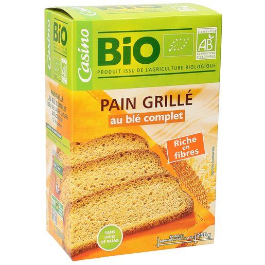 CASINO BIO pan tostado integral caja 200 gr