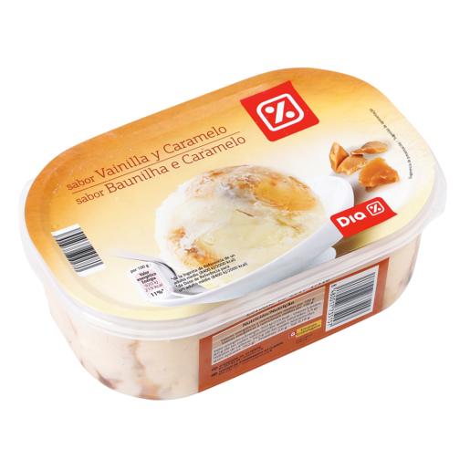 DIA helado vainilla y caramelo barqueta 500 gr