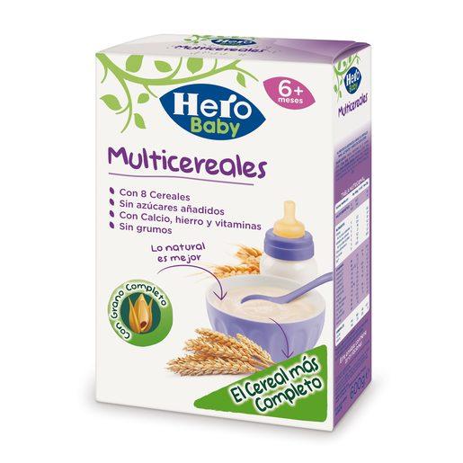 HERO Baby papilla multicereales caja 600 gr