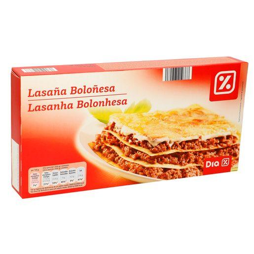 DIA lasaña de carne caja 600 gr