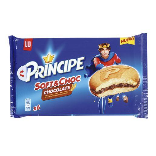 LU PRINCIPE soft&choc bollo con chocolate paquete 6 uds 180 gr