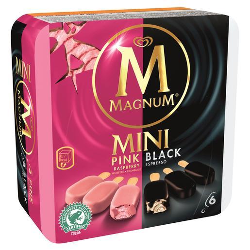 MAGNUM helado mini pink & black caja 300 gr
