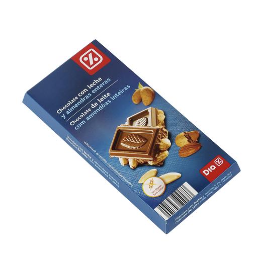 DIAchocolate con leche y almendras enteras tableta 200 gr