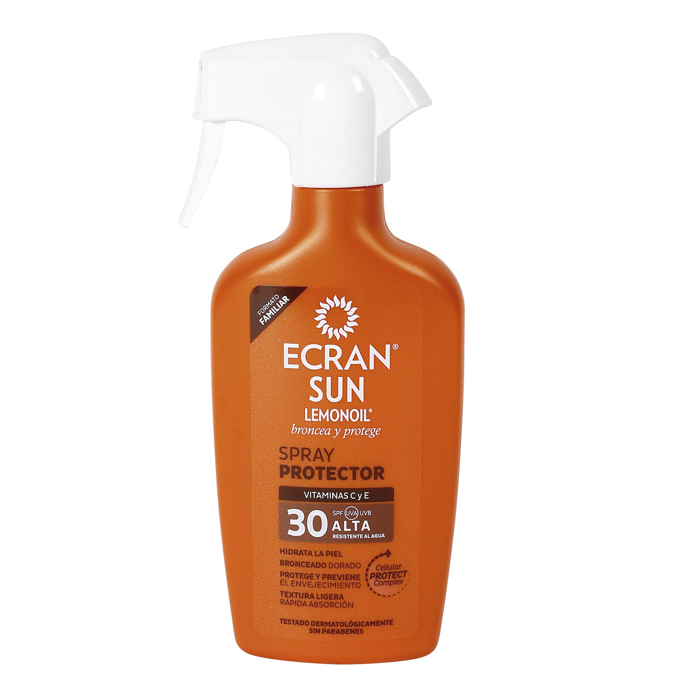 Ecran sun spray solar protector spf 30 pistola 300 ml for Ecran photo sun