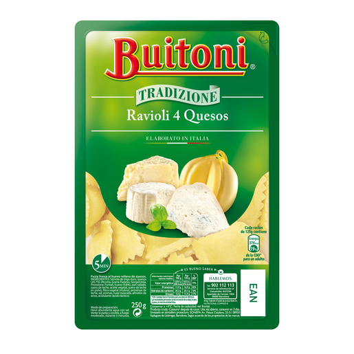 BUITONI ravioli 4 quesos bandeja 250 gr