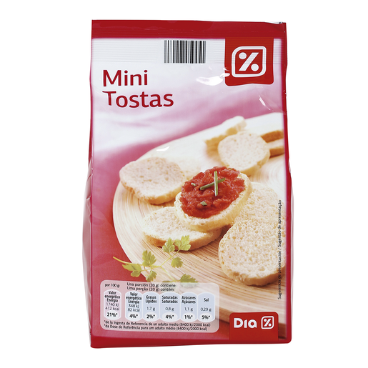 DIA mini tostas paquete 120 gr