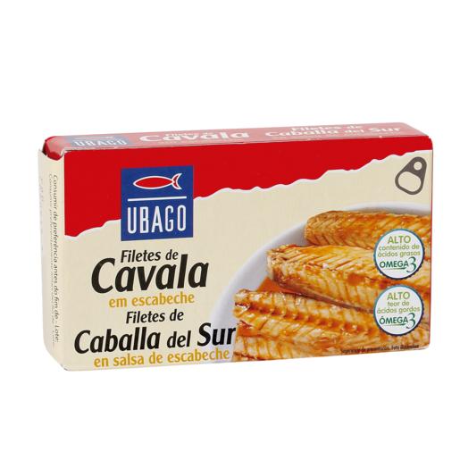UBAGO filetes de caballa macarella en escabeche lata 65 grs