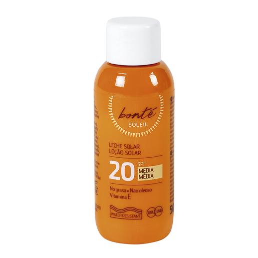 BONTE leche solar protección media spf 20 bote 50 ml