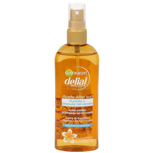 DELIAL aceite aftersun bronceado radiante spray 150 ml