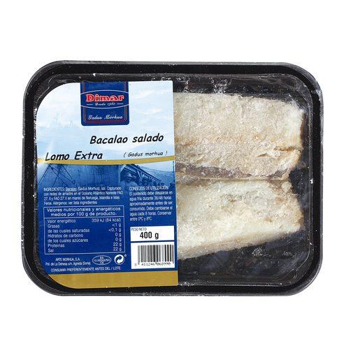 DIMAR lomos de bacalao salado bandeja 400 gr