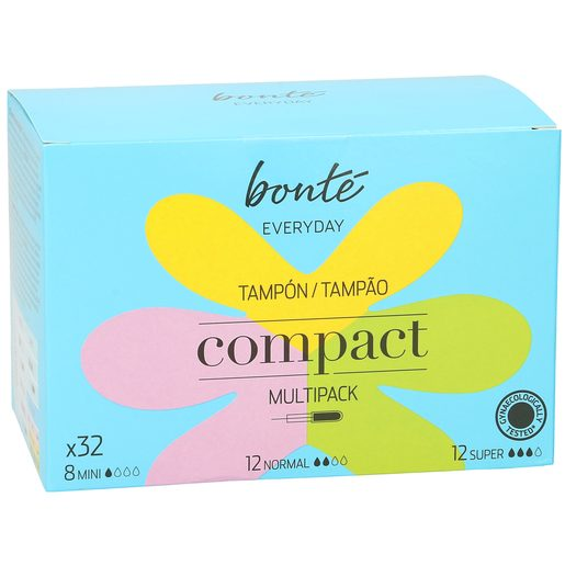BONTE tampones compactos multipack caja 32 uds