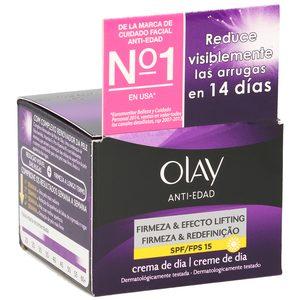 OLAY crema facial de día spf 15 hidratante antiedad efecto lifting tarro 50 ml