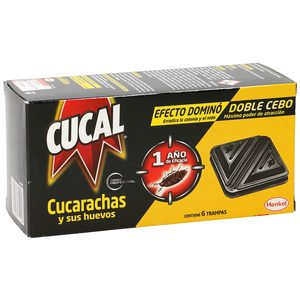 CUCAL insecticida trampa cucarachas caja 6 uds