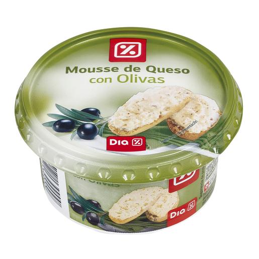 DIA mousse de queso con olivas tarrina 150 gr