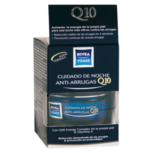 NIVEA VISAGE cuidado de noche antiarrugas Q10 plus tarro 50 ml