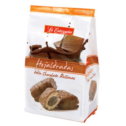 LA ESTEPEÑA hojaldradas rellenas y cubiertas de chocolate bolsa 310 gr