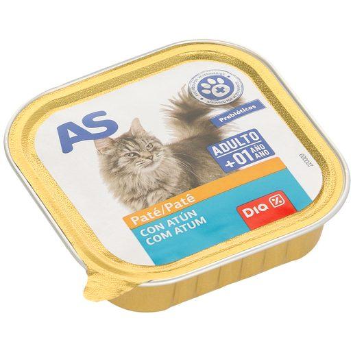 AS paté para gatos con atún tarrina 100 gr