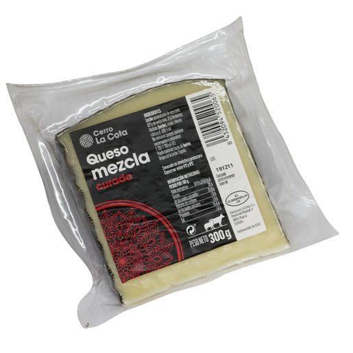 CERRO LA COTA queso mezcla curado cuña 300 gr