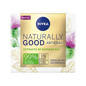 NIVEA naturally good crema facial de día antiedad tarro 50 ml