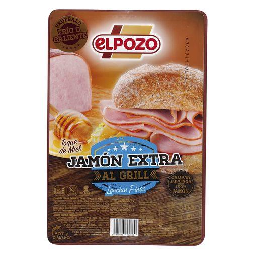 ELPOZO jamón extra al grill finas lonchas sobre 115 gr
