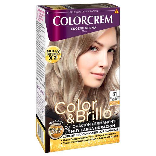 COLORCREM tinte Rubio Claro Ceniza Nº 81 caja 1 ud