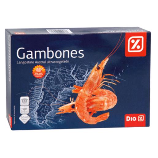 DIA gambones langostinos austral crudo caja 1 kg